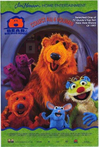 Bear in the Big Blue House Movie Poster (27 x 40 Inches - 69cm x 102cm) (1998) -(Noel McNeal)(Tyler Bunch)(Alice Dinnean)(Vicki Eibner)(Geoffrey Holder)(James J. Kroupa) (Bear In The Big Blue House Cast)