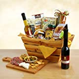 Italian Food Gift Basket | Olive Oil, Balsamic Vinegar, Pasta, Sauce, Salami and More