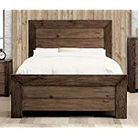247SHOPATHOME IDF-7627CK Bed-Frames, California King, Walnut