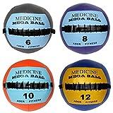Ader Soft Mega Medicine Ball Set- 6, 8, 10, 12 Lb