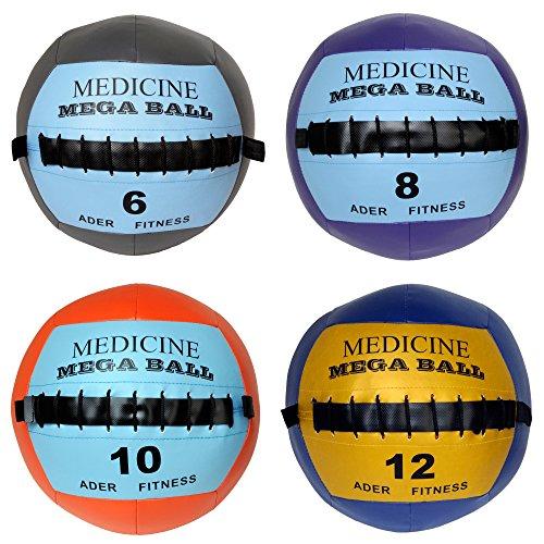 Ader Soft Mega Medicine Ball Set- 6, 8, 10, 12 Lb by Ader Sporting Goods