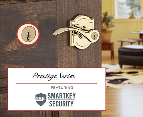 Baldwin Prestige Tobin Entry Lever featuring SmartKey in Lifetime Polished Brass by Baldwin (Image #2)