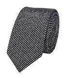 Men Dark Grey Black Modern Mini Dot Self Work Church Tie Winter Big BOY Neckties