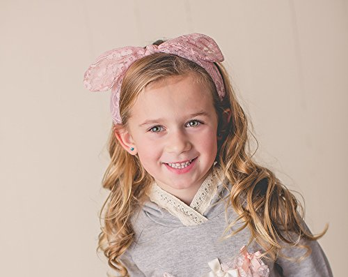 FRILLS Baby Girl Lace Hairband - Wedding Flower Girls Headband for Toddler - IVORY