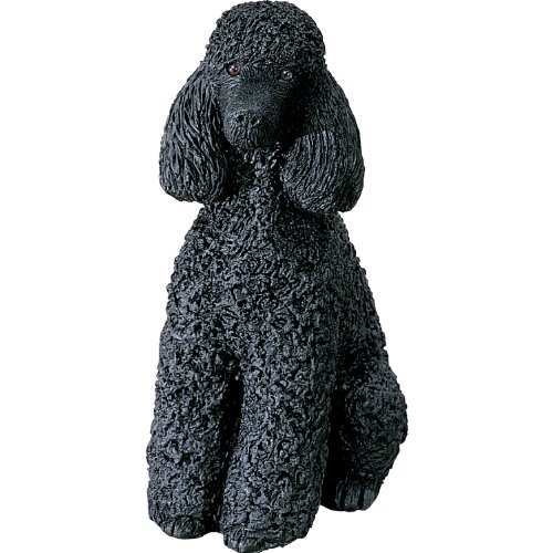 (Sandicast Mid Size Black Poodle Sculpture, Sitting)