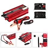 1000 watt pure sine wave - TopGain Peak 2000W Pure Sine Wave Inverter 12V DC to 110V AC Car Charger with 2 AC Outlets 2A USB Port