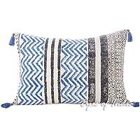 印度之眼 - 16 X 24 黑色蓝色抱枕套彩色装饰枕头套抱枕长枕沙发靠垫沙发波西米亚印*安波希亚座椅套