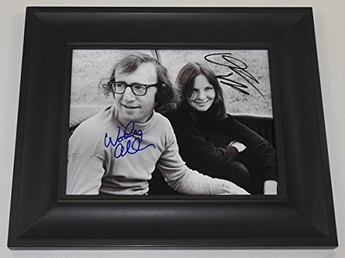 Annie Hall Woody Allen Diane Keaton Signed Autographed 8x10 Glossy Photo Gallery Framed Loa ()