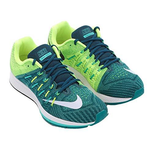Nike Mens Air Zoom Elite 8 Running Shoe (Midnight Turquoise/White/Clear Jade/Volt, Size 10 M - Nike Zoom Elite