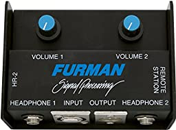 Furman HR-2 Remote Headphone Mixer Drives Two Pair Headphones Connected to HA-6AB or SP-20AB