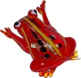 Lampwork Orange Frog Pendant + FREE RIBBON NECKLACE+FREE GIFT BAG