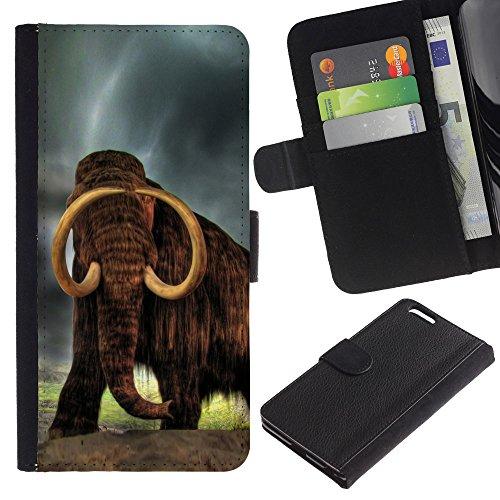 EuroCase - Apple Iphone 6 PLUS 5.5 - Majestic Mammoth - Cuir PU Coverture Shell Armure Coque Coq Cas Etui Housse Case Cover