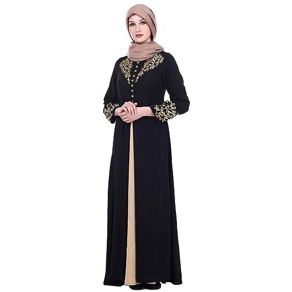 47764ae6b9335 Hzjundasi Robe Musulmane Dubai Caftan Robe Longue Arabe pour Femmes Abaya  Robe Imprimée pour Filles Jalabiya Kaftan M-XXL  Amazon.fr  Vêtements et ...