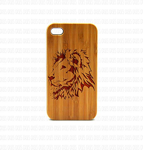 Krezy Case Real Wood iPhone 4 Case, Lion iPhone 4 Case, Wood iPhone 4 Case, Wood iPhone Case,