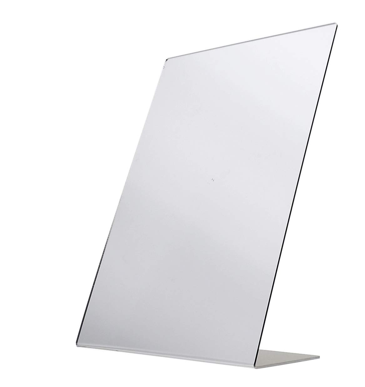 Marketing Holders Acrylic 12'' x 18'' Shoe Store Mirror Counter Mirrors Slanted Back Value Pack of 2
