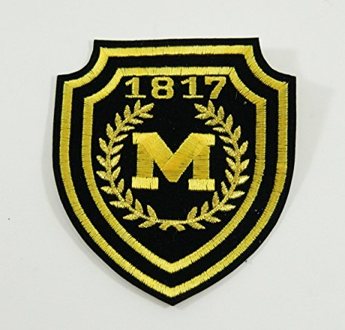 NCAA University of Michigan 1817 'M' Patch 3 1/2