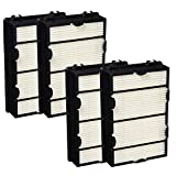 ECOMAID Replacement Holmes HAPF600D (B) Air Filters, 4packs for Holmes HAPF600, HAPF600D-U2 HEPA Air Allergy Filter True hepa Filter