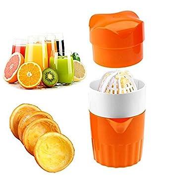 Buzfi Exprimidor de cítricos naranja, exprimidor manual para limón, naranja, lima, pomelo con colador y contenedor, 2 tazas: Amazon.es: Hogar