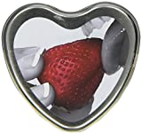 Earthly Body Edible Heart Candle, Strawberry, 4 ounces Tin