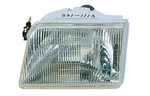 1995 Ford Truck Headlight Headlamp (1993-1997 Ford Ranger Pickup Truck Headlight Headlamp Head Light Lamp Pair Set: Left Driver AND Right Passenger Side (1997 97 1996 96 1995 95 1994 94 1993 93))