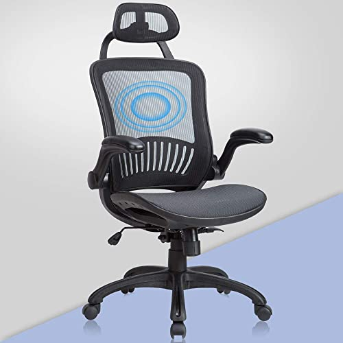Office Chair Desk Chair,Ergonomic Mesh Office Chairs,Modern Height-Adjustable Task Rolling Swivel Chair