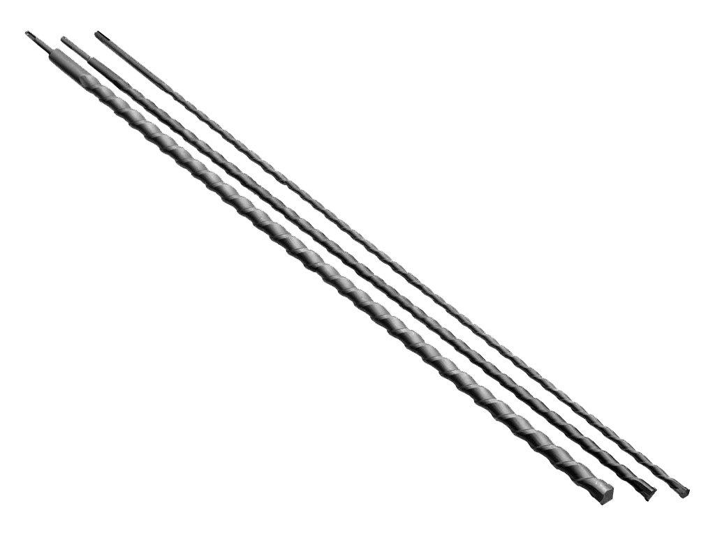 Mauerdurchbruch Hammerbohrer Betonbohrer Steinbohrer /Ø 12 16 24 mm SDS Plus 1000mm Set