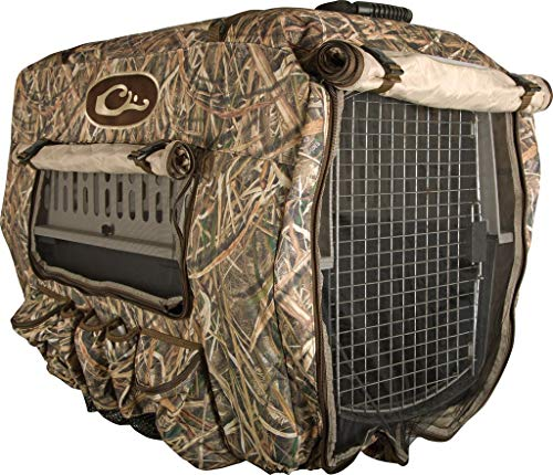 Drake Deluxe Adjustable Insulated Dog Kennel Cover Polyester Mossy Oak Shadow...