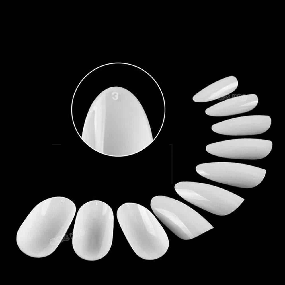 SUNSHINE SMILE Oval Nails Tips Natural Full Cover Acrylic False Nails 10 Sizes 500pcs For Nail Art- for Nail Salons and DIY Nail Art neway