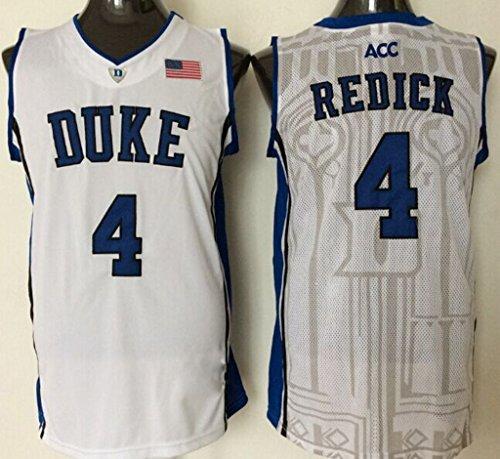 Men's Duke Blue Devils NO.4 Redick White Basketball Jerseys Large