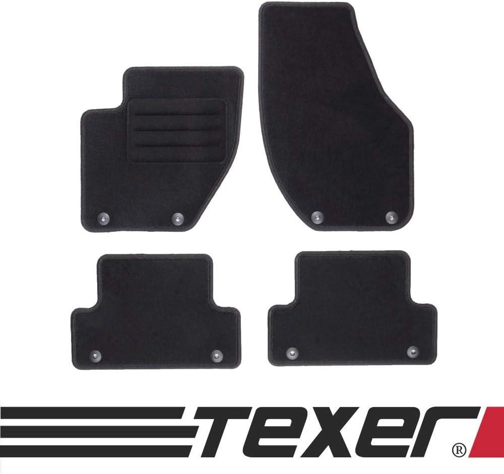 Texer Textil Fußmatten Passend Für Volvo V40 Ii Bj 2012 2019 Basic Auto