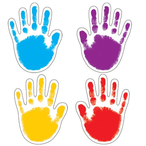 Carson Dellosa Handprints 42 Cut-Outs (120081) ()