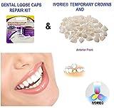 Temporary Crowns Anterior Teeth & Loose Caps Repair Kit Home Use
