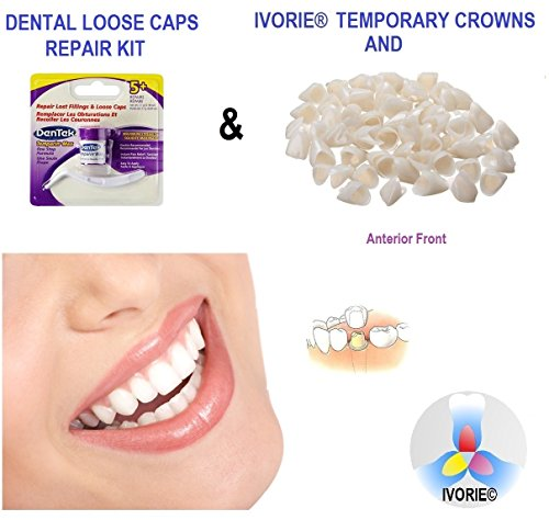 Temporary Crowns Anterior Teeth & Loose Caps Repair Kit Home Use