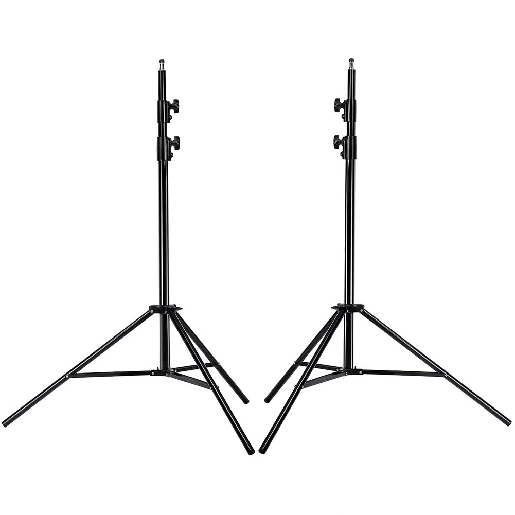 Neewer PRO 9 Feet / 260cm Heavy Duty Aluminum Alloy Photography Photo Studio Light Stands Kit for Video, Portrait and Photography Lighting (2 Pieces) by Neewer