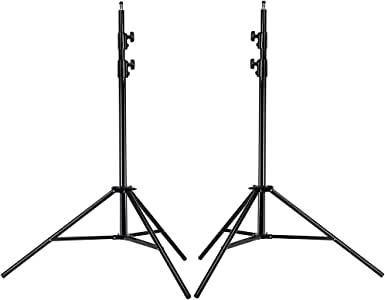 Neewer® PRO 9 Feet / 260cm Heavy Duty Aluminum Alloy Photography Photo Studio Light Stands Kit for Video, Portrait and Photography Lighting (2 Pieces)
