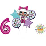 L.O.L. Surprise! Party Supplies 6th Birthday Balloon Bouquet Decorations