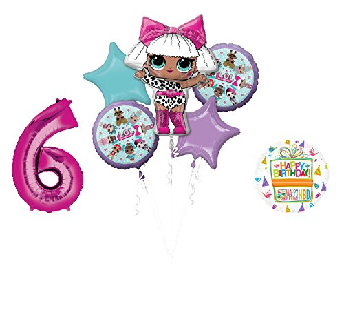 L.O.L. Surprise! Party Supplies 6th Birthday Balloon Bouquet -