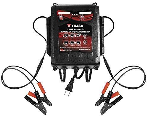 Yuasa 1202262 2-Amp Dual Bank Automatic Battery Charger