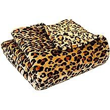 Ivy Union Ultra Soft Microplush Velvet Blanket - Luxurious Fuzzy Fleece Fur - All Season Premium Bed Blanket, Twin Extra Long (Twin XL/Twin, Leopard)