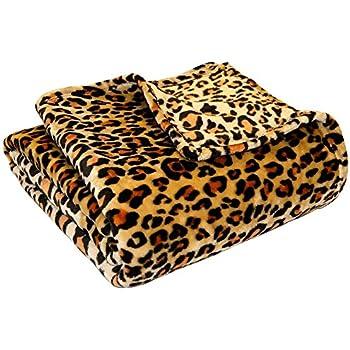 Ultra Soft Microplush Velvet Blanket - Luxurious Fuzzy Fleece Fur - All Season Premium Bed Blanket, Twin Extra Long (Twin XL, Leopard)