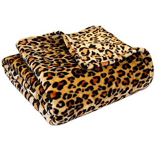 Ultra Soft Microplush Velvet Blanket - Luxurious Fuzzy Fleece Fur - All Season Premium Bed Blanket, Twin Extra Long (Twin XL/Twin, Leopard) (Leopard Extra Long)