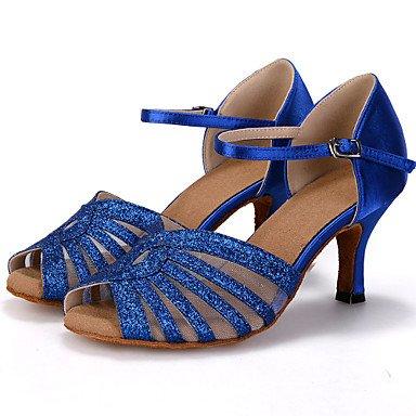 latine danse Chaussures personnalisable similicuir Talon évasé de en Femme gnt6g