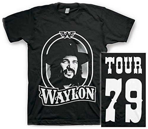 Waylon Jennings- Tour 79 White Logo (Front/Back) T-Shirt Size XXL