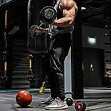 MECH-ENG Men's Gym Workout Stripe Jogger Pants Slim