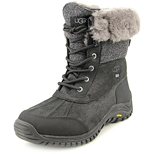 UGG Women's Adirondack Boot II Black Leather 10 B - Medium by UGG