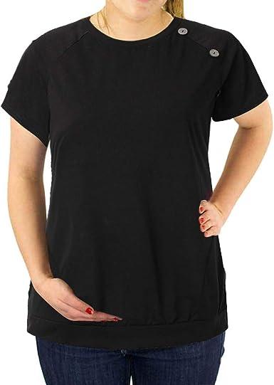 Vectry Premama Camiseta Camisetas Mujer Manga Corta Blusa De Mujer Elegante Camisa Casual Mujer Camisa Premama Blanca 2019 Nuevo Camisetas Premama Negro: Amazon.es: Ropa y accesorios