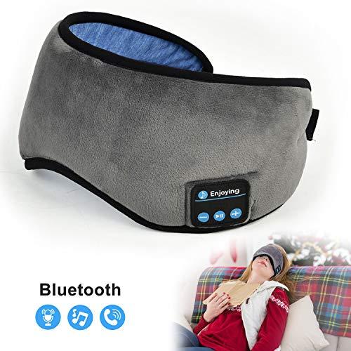 Sleep Mask with Bluetooth Headphones, Bluelark Adjustable Bluetooth Sleeping Eye Mask Wireless Music Travel Sleep Headset Built-in Speakers Microphone Hands-Free Washable Headband, 8 Hours Playtime
