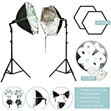 Lusana STUDIO 24 Octagon Light Softbox Photo Video Studio Photography Continuous Lighting Kit, LNA1004-EYLS949