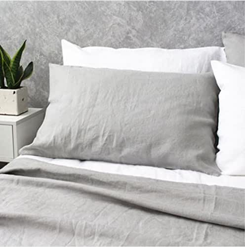 Amazon.com: Stone Grey Duvet Cover handmade in Natural Linen