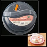 Plastic Microwave Plate Lid Cover With Steam Vent Clear 10.25...
